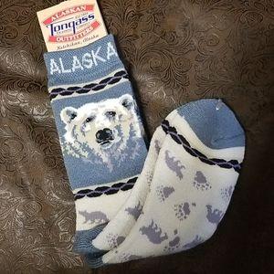 Alaska logo socks